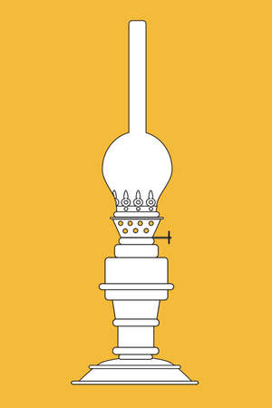kerosene: The vector illustration - kerosene lamp Illustration