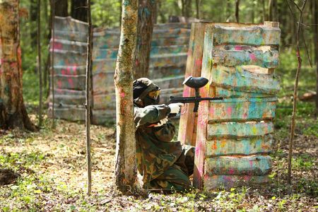 solder: paintball solder shooting from defense