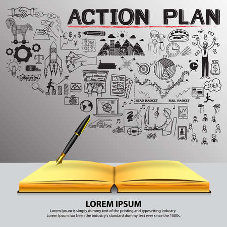 organise: Action plan doodles