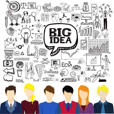 Big idea, business doodles