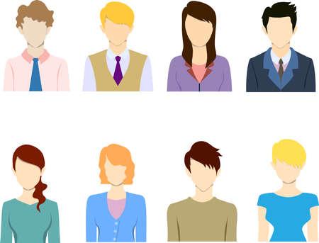 staff training: Flat business people icon flat iconavatar.