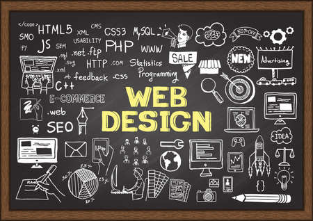 칠판에 웹 디자인에 대해한다면.