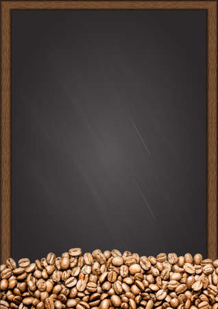 coffee beans: Coffee beans with chalkboard background. Illustration