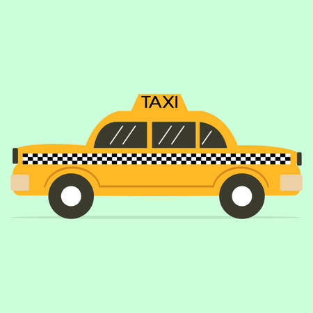 taxi sign: Taxi flat icon