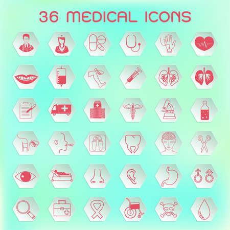medical icons: Set of medical icons