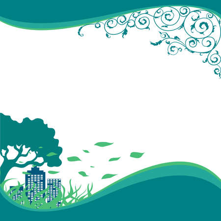 vitality: ECO, Green,Nature Banners Illustration