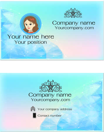 business card: Modern business card template Illustration