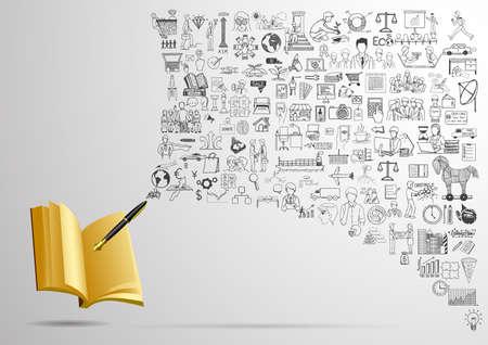 hacer: Garabatos de negocios con la pluma de escritura en el cuaderno vacío. PARA HACER LA LISTA o BUSINESS PLAN concepto.
