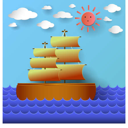 Junk Ship paper effect
