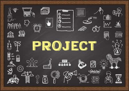 落書き黒板プロジェクトについて  イラスト・ベクター素材