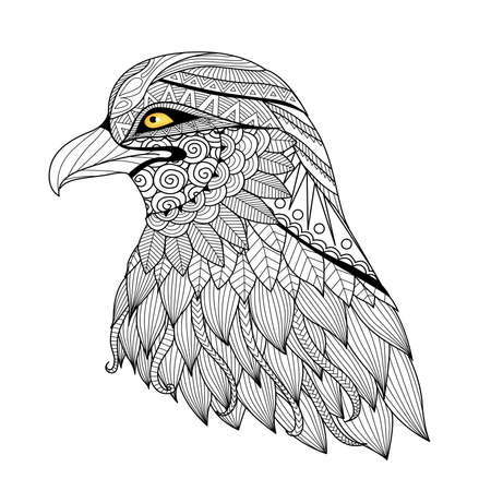 for: Detail   eagle for coloring page, tattoo, t shirt design,   and so on.
