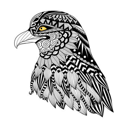 design vector: Detail   eagle for coloring page, tattoo, t shirt design,   and so on.