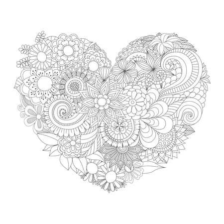 심장 모양의 꽃