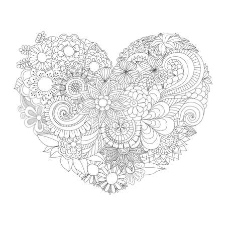 flowers in the heart shape