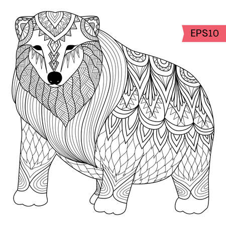predators: bear illustration Illustration