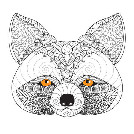 racoon: Raccoon for coloring page for adult