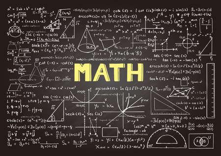 matemáticas: pizarra con la palabra