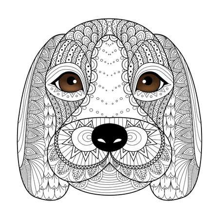 Französisch Bulldogge Welpen Zentangle Stilisierte Für Malbuch Für ...