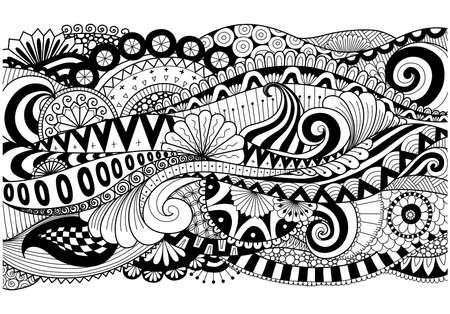 motif Boho pour fond, décorations, bannière, livre de coloriage, cartes, etc. Vecteurs