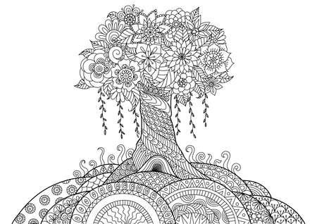 arboles blanco y negro: Árbol caprichosa