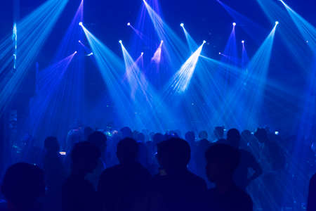 techno: Concert at night time