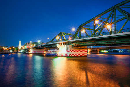 Phra Phuttha Yodfa Bridge, Memorial Bridge in bangkok,Thailand Stock Photo