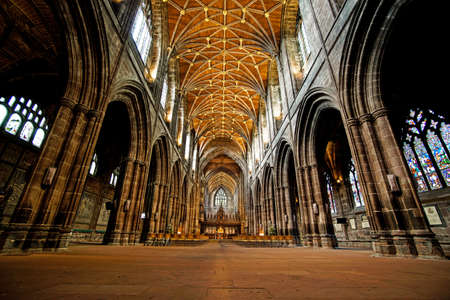 Inside Chester Cathedral, Chester, England in July 2018 版權商用圖片 - 105563761