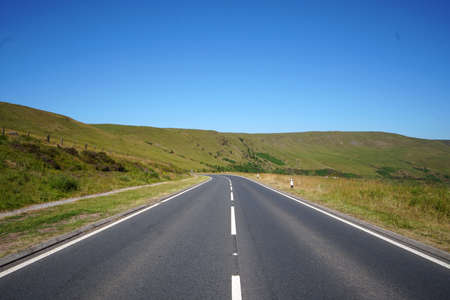 Road near by Pen Y fan, Brecon Beacons National Park, Wales, United Kingdom