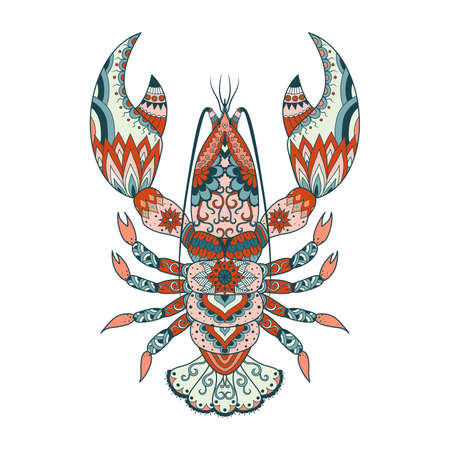 Colorful lobster for design element. Vector illustration Illustration