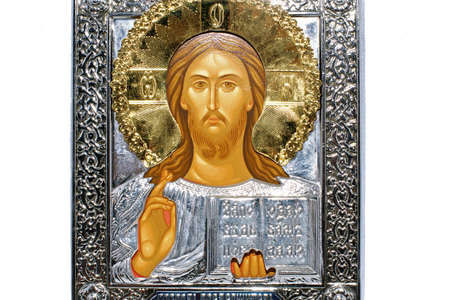 a Jesus icon isolated on a white background photo