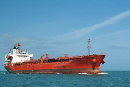 barge: Dangerous tanker at Atlantic coast of France