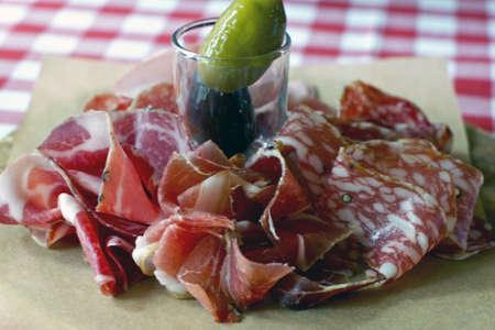 Plato de carne italiano en restorane Foto de archivo - 15048933