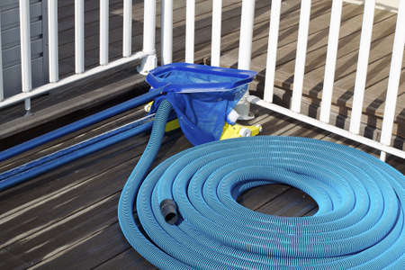 cleaning tools: A set of pool cleaning supplies