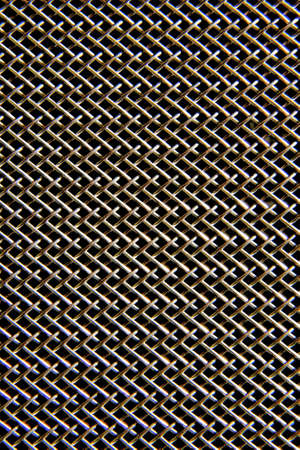 Texture of metalic mesh on black Stock Photo - 17513018