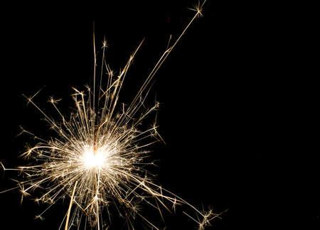 Bengal light, many sparks, explode, black background