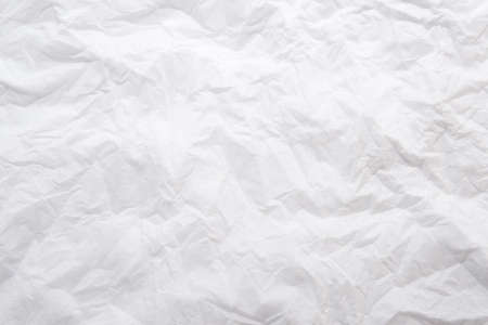 curled paper: Sheet of crushed white papere
