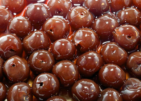 flavorful: Background of Organic Cherries in Liqueur