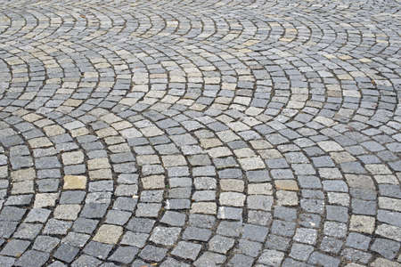 Detail of a cobbled road. photo