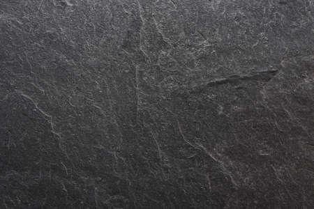 Closeup of  blank black slate. Background texture. Stock Photo