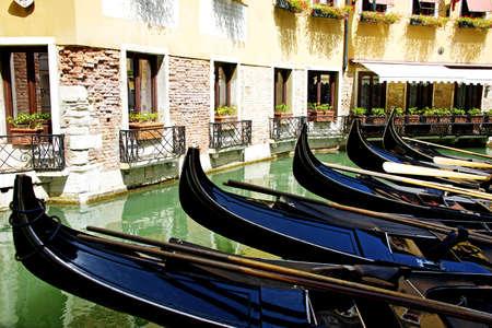 Gondolas in Venice , Summer in Italy