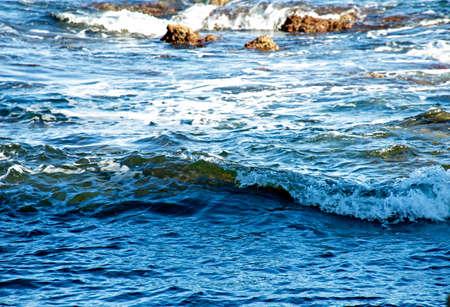 Sea background. Waves and sea foam
