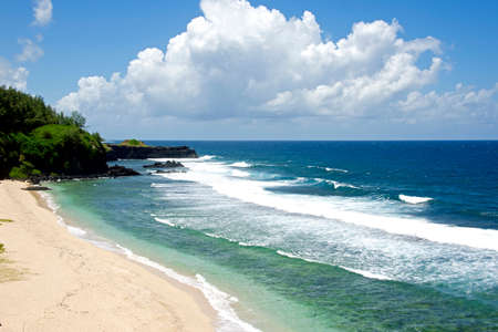 Ideal beach in the Indian Ocean, Mauritius Island Фото со стока