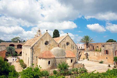 arkady: Monnastery of Arkadiou at Crete island in Greece . Stock Photo