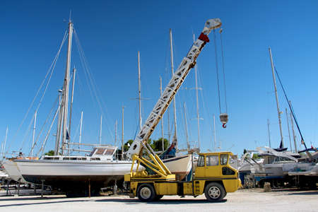 Parking of boats on the shore of France