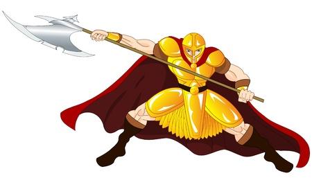 Gold Warrior Vector