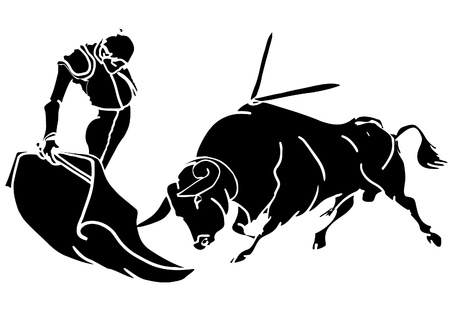 bullfighter: bullfighter and bull