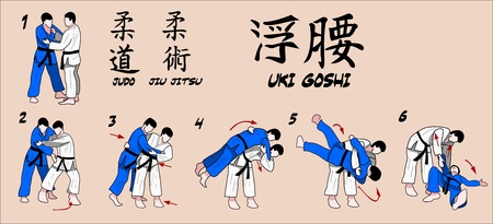 judo: Martial Art Technique Hip Illustration