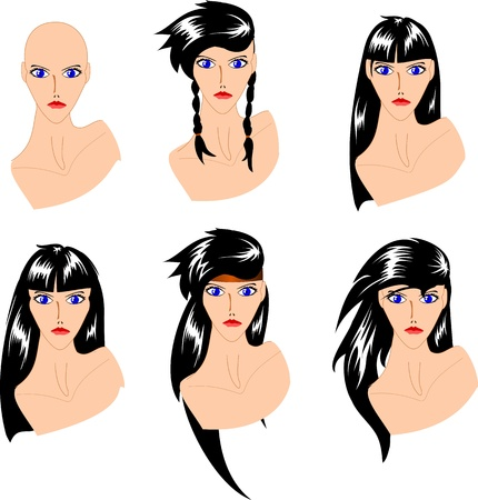 bald woman: Fashionable hairstyles