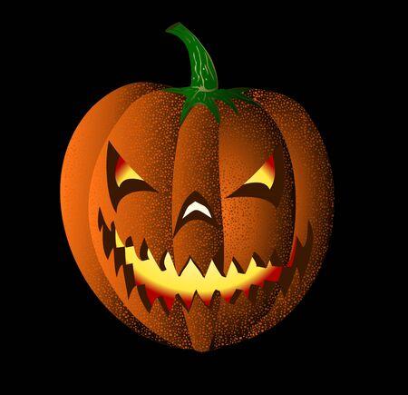 maliciously smiling pumpkin