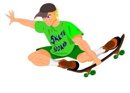 skateboard park: skater saltando